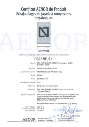 certificat-aenor-façadier-dino48