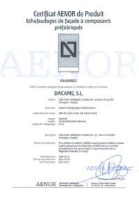 certificat aenor multidirectionnel meka48