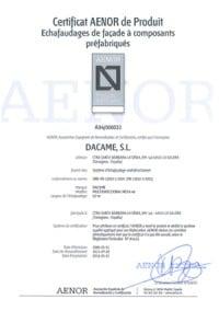 certificat aenor multidirectionnel meka48